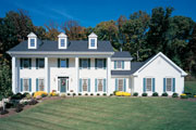 Beautiful Colonial two-story house plan
