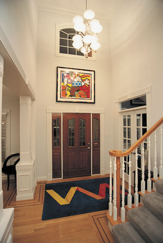 two-story entry foyer