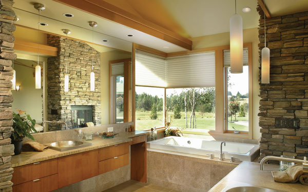 bathroom in green home design