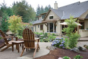 rustic country home patio