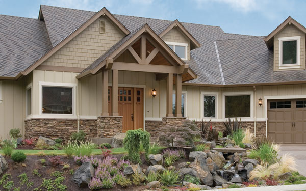 Landscaping log home basics and country landscaping ideas for Craftsman style log homes