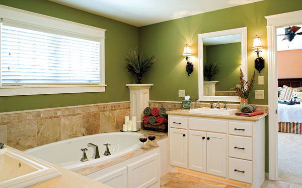 farm color schemed luxury bathroom