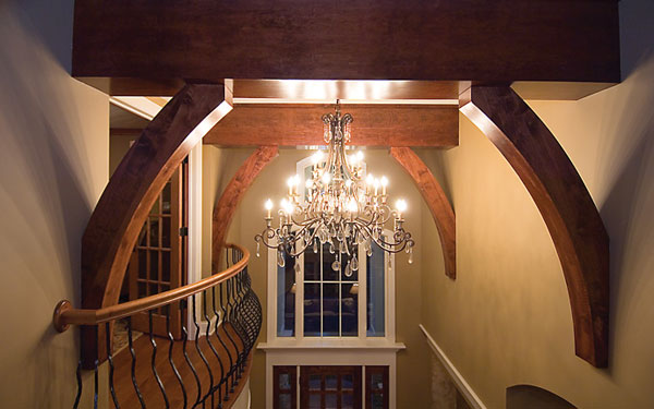 beautiful ceiling detail with chandelier