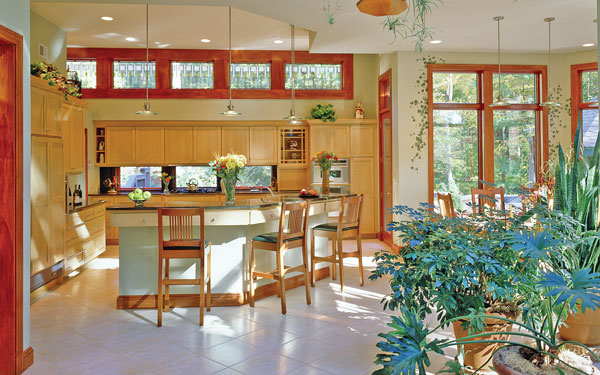 energy efficient ranch home plan interior