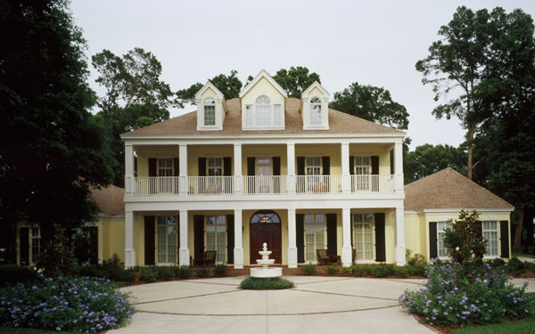 French creole home designs house plans and more for Plantation columns