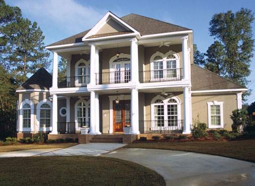 southern plantation home with great curb appeal
