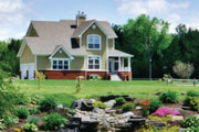 beautiful country house plan with complmenting landscaping ideas