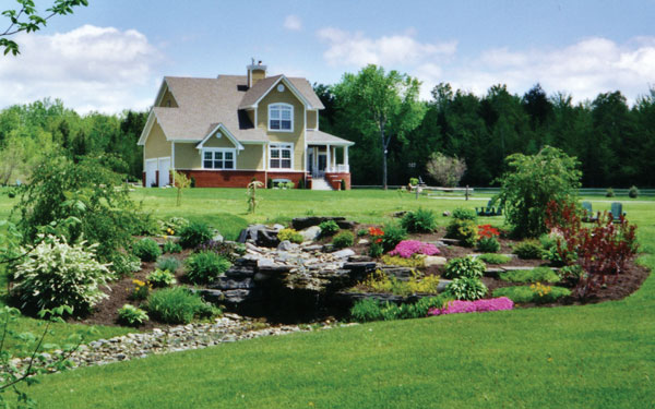 Country homes log homes landscaping house plans and more for Country garden designs landscaping