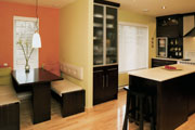 Uncluttered kitchen floor plan layout