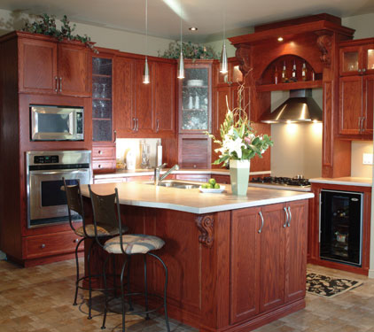 perfectly lit gourmet kitchen