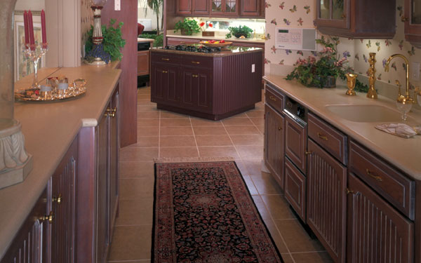 a perfect example of a galley style or corridor kitchen floor plan
