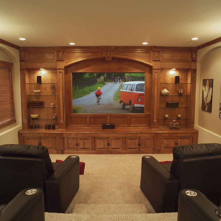 Media rooms with basement home decorating ideas for House plans with media room