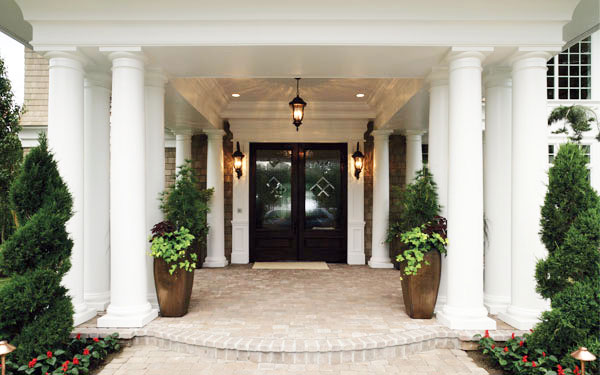 beautiful front entrance to a home