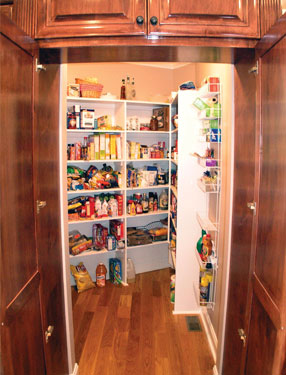 Large walk-in food pantry