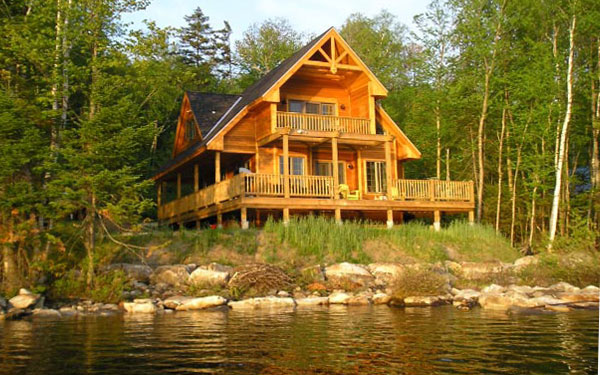 Lake home maintenance tips house plans and more for Wilderness cabin plans
