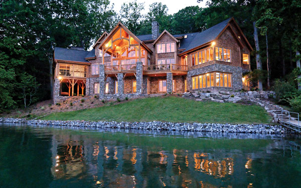 Luxury Rustic House Plan On Lake