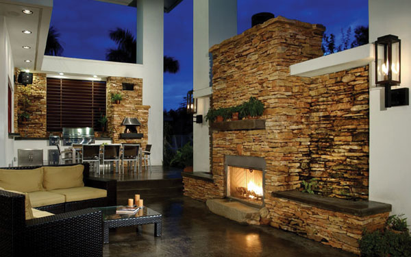 beautiful mediterranean style outdoor living area