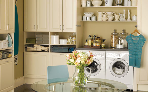 Luxury laundry room with an abundance of storage space