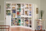 ClosetMaid white kitchen pantry