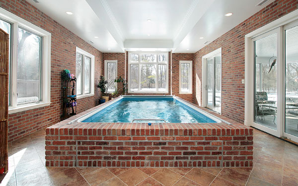 brick indoor swimming pool