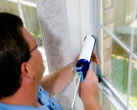 caulking home window fame