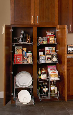 luxury kitchen cabinets with organizers from ClosetMaid
