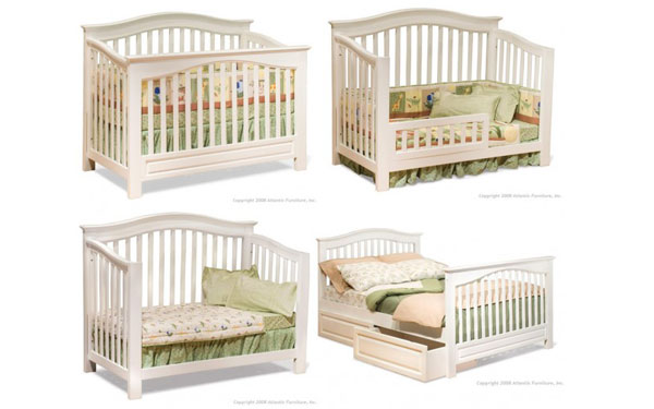 convertible crib to bed for a child's bedroom