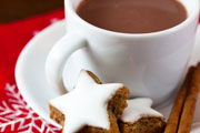 holiday cookies and cocoa