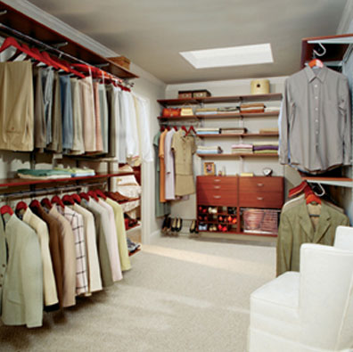 large luxury walk-in closet