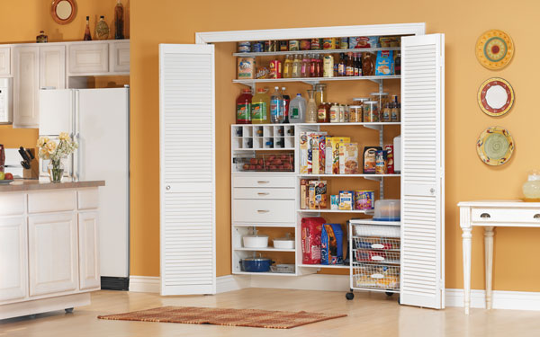 Freedomrail organized kitchen pantry
