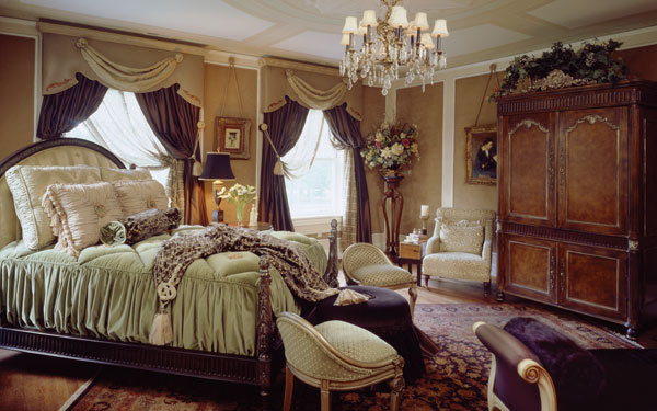 rich vintage bedroom colors