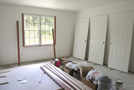 unfinished room in a home