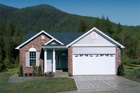 Ranch Home Two Car Garage Design