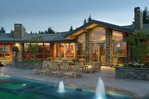 Luxury Home with tranquil outdoor living area