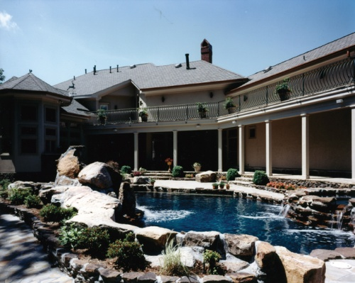 Craftsman Home Inground Pool