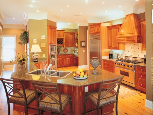 Kitchen floor plans kitchen design house plans and more House plans with large kitchen island