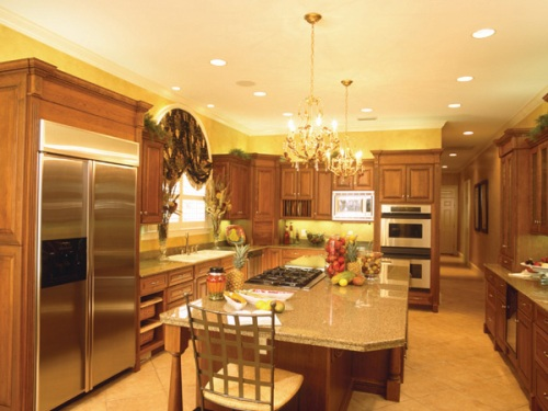 amenity-filled kitchen floor plan