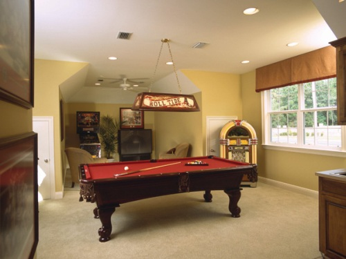Finished basement ideas house plans and more - Basement game room ideas ...