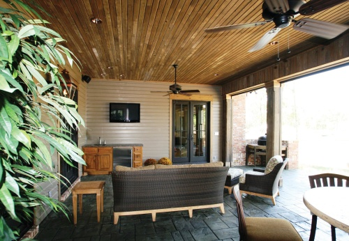 Outdoor Entertainment Ideas - House Plans and More on Indoor Outdoor Entertaining Areas id=63746
