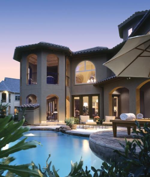 European Home Inground Pool View This House Plan