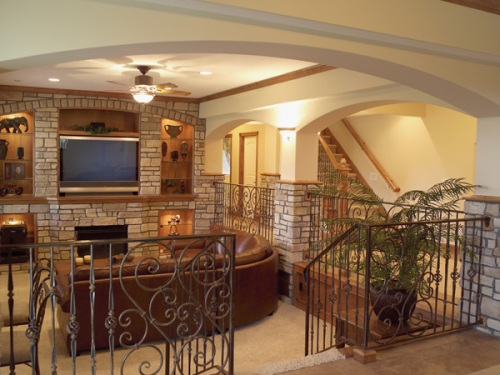 Craftsman Home Basement