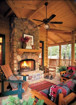 Country Home Outdoor Living Space