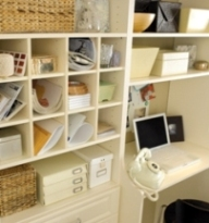 Home Office Organizing Cubbies