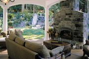 Craftsman Home Outdoor Living Space