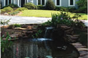 Contemporary House Plan Water Garden