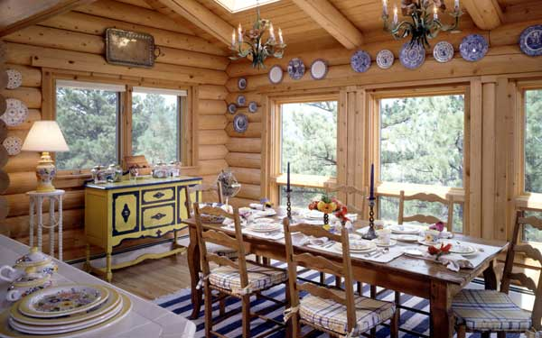charming rustic breakfast area