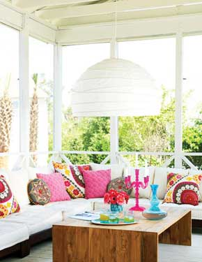 colorful outdoor living area