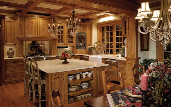elegant rustic country kitchen - Rustic Country House Plans