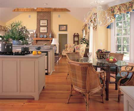 cheerful country kitchen