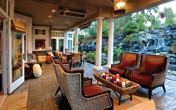 Luxury outdoor living ideas house plans and more - Covered outdoor living spaces ...